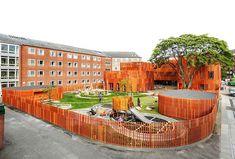 COBE Completes Curvaceous Green-Roofed Kindergarten in Copenha...