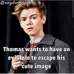 That would be very interesting to see<<escape his cute image
