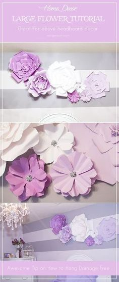 Perfect wall decor for a girl's room or any space that needs a little splash - the cost is less than $20 and takes 1 hour. #DIYHomeDecorForGirls