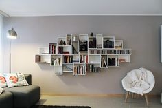 Contemporary style bookcase Sectional modular bookcase by Cubit by Mymito | design Cubit