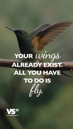 Your wings already exist. All you have to do is fly. - VISUAL STATEMENTS®