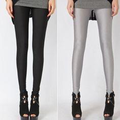 Fulok Girls Knitted Solid Strechy Kids Full Length Leggings Pants White 6X
