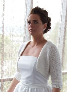 Maren´s Wedding Bolero - knitted in one piece - Pickles free pattern