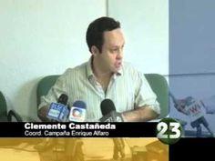 Clemente Castañeda coordinador de campaña de Enrique Alfaro, candidato de Movimiento Ciudadano a la gubernatura, presentó una queja ante el Instituto Electoral en contra del PRI PAN y PRD, por el reparto de un volante falso, en el que se le atribuye a Alfaro propuestas que él no ha hecho.     Informe de Ricardo Salazar