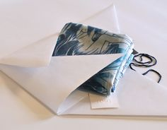 Silk scarf in an origami envelope. Ready to send it to its new owner! https://www.etsy.com/es/shop/CAROLINAPUIVECINO?ref=hdr_shop_menu
