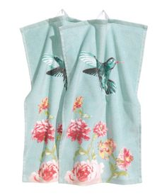 Hummingbird turquoise guest towels | H&M US $9.95