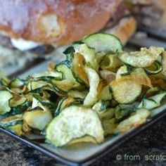 Oven Fried Zucchini Chips With Basil Dipping Sauce Recipes ...
