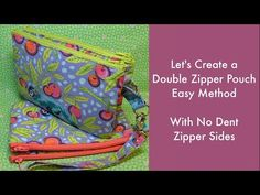 Let's Create a Double Zipper Pouch-Easy Method with No Dent Zipper Sides Coin Purse Tutorial, Zipper Pouch Tutorial, Tote Tutorial, Tutorial Sewing, Sewing Tutorials, Bag Tutorials, Sewing Projects, Video Tutorials, Sewing Tips