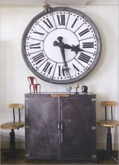 Tiffany McKinzie Interior Design Feature Friday: CasaBubble @ The Calgary & Vancouver Home + Design Shows industrial Interiores great little. Industrial Clocks, Vintage Industrial Furniture, Industrial House, Rustic Industrial, Industrial Kitchens, Industrial Interior Design, Industrial Interiors, Home Interior Design, Industrial Decorating