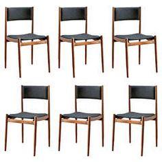Set of Six Model No. 108 Dining Chairs by Carlo De Carli