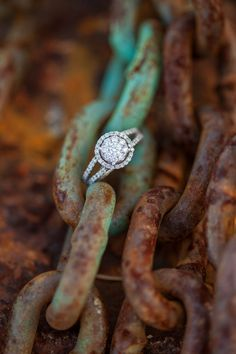Like..I'm sorry..Why would you put your gorgeous engagement ring on some nasty old rusty chains? Why?