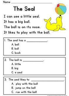 READING COMPREHENSION PASSAGES ~ GUIDED READING LEVEL C - TeachersPayTeachers.com