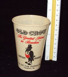 Old Crow waxed paper cups - had about 30 sold all