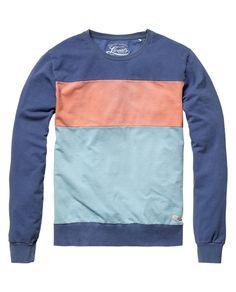 Colour block cut & sewn sweater - Sweaters - Scotch & Soda Online Shop