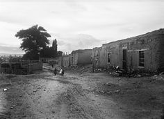 "pogphotoarchives: "" Corner of Martinez Street and Hillside Street looking west toward downtown Santa Fe, New Mexico Photographer: Jesse Nusbaum Date: circa 1915? Negative Number 014119 """