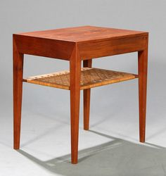Side Table For Wingspread By Frank Lloyd Wright The Whole Thing - Teak side table with drawer