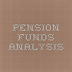 Pension funds analysis