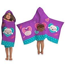 image of Disney® Doc McStuffins Cape-Style Hooded Towel