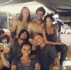 Gale with cast and crew of Andron: The Black Labyrinth