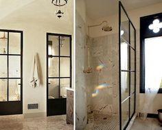 Factory Windows in Two Baths in Malibu, California and Austin, Texas, Remodelista