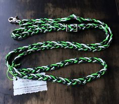 Adjustable Paracord Reins  Electric Shock  Lime by RodeoEnvy