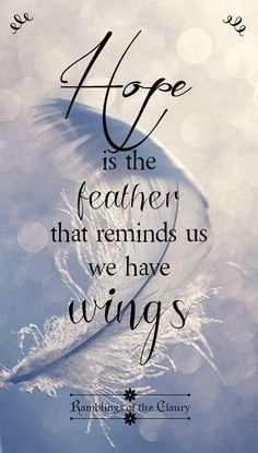 Hoffnung ist die Feder, die uns daran erinnert, dass wir Flügel haben ❤ Hope is the feather that reminds us we have wings Fly Quotes, Faith Quotes, Bible Quotes, Quotes To Live By, Motivational Quotes, Wing Quotes, Motivation Positive, Positive Quotes, Feather Quotes