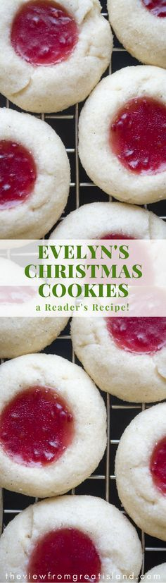 Reader's Recipes: Evelyn's Christmas Cookies -- Little Jam ThumbPrint Cookies are perfect for the holidays & beyond!