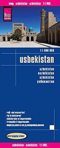 Uzbekistan, mapa impermeable de carreteras. Escala 1:1.000.000 impermeable. Reise Know-How.