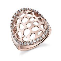 Glamorous Rose Gold Diamond Ring