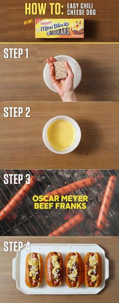 How to make a VELVEETA Easy Chili Cheese Dog – Just take one of VELVEETA's new 4oz. Mini Blocks and you're ten minutes away from a game-day game changer. For more Mini Block recipes visit http://www.kraftrecipes.com/velveeta/main.aspx