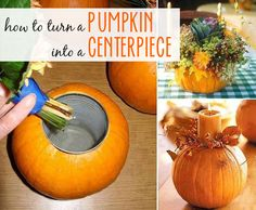 How to Turn a Pumpkin into a Centerpiece