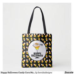 Happy Halloween Candy Corn Martini Tote Bag