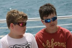 Ransom and Ethan on a snorkeling trip,