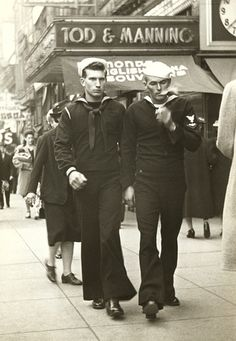 USN sailors 40s found street photo
