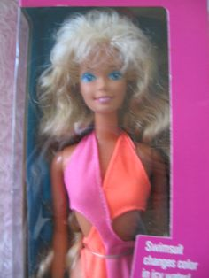 "Ha ha!  I had this exact barbie and now it's considered ""Vintage"" Barbie Wet N Wild from the 80s"
