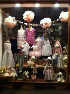 I took this picture of children's clothing in a display window on Balboa Island.