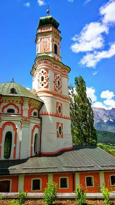 baroque Karlskirche in Volders, built between 1620 and 1654 - near Innsbruck, Austria, photo by Hannes Wimmer/mounthagen on Pinterest