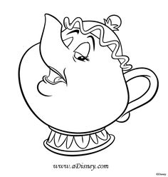 potts beauty and the beast color page disney coloring pages color plate coloring sheetprintable coloring picture