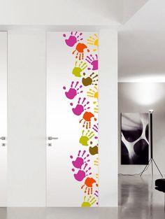 Pocket sliding door / Flush-to-the-wall door PICTURE DOORS by BLUINTERNI