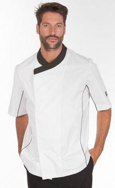 Gastro Chef                                                                                                                                                                                 Más Salon Wear, Waiter Uniform, Hotel Uniform, Restaurant Uniforms, Professional Wear, Uniform Design, Love Shirt, Work Attire, Work Wear
