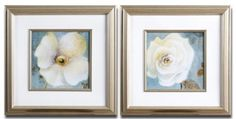 2 Framed Florals by Gordon Companies, Inc. $252.00. This product may be prohibited inbound shipment to your destination.. Picture may wrongfully represent. Please read title and description thoroughly.. Please refer to SKU# ATR26168720 when you inquire.. Brand Name: Gordon Companies, Inc Mfg#: 30720623. Shipping Weight: 17.00 lbs. 2 Framed Florals/white rose prints are under glass and over off white mats/silver leaf frames with complex wash, matching fillets/22''H x 22''W x 1'...