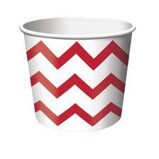 Red Chevron Stripe Treat Cups (6 ct)