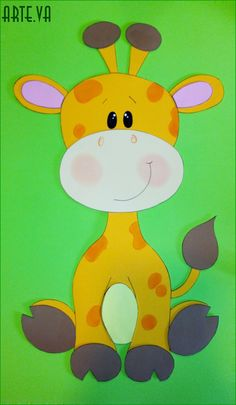 Resultado de imagen para jirafas en goma eva Crafts For Kids, Diy Crafts, Cute Animal Drawings, Wool Applique, 4 Kids, New Tricks, Safari, Clip Art, Quilts
