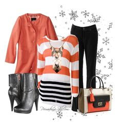 orange winter outfit