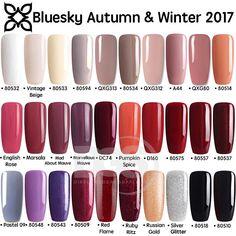 Bluesky AUTUMN WINTER Range 2 UV/LED Soak Off Gel Nail Polish 10ml FREE POSTAGE