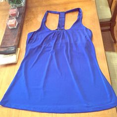 Express royal blue racer back top Never worn, tried on and it's too small for me. My loss, your gain! Express Tops Tank Tops