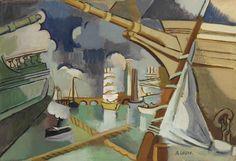 Andre Lhote (1885-1962)  Le Port de Bordeaux