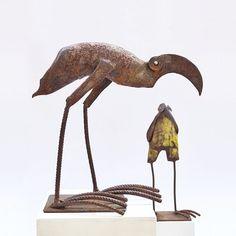 Chris Kircher Vogelskulpturen aus Stahlschrott