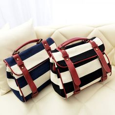 Cool! Retro Navy Striped Canvas Handbag  Shoulder Bag just $29.9 from ByGoods.com! I can't wait to get it!