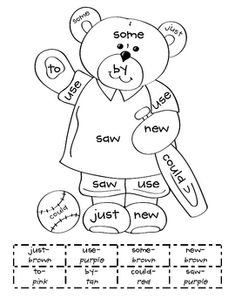 grade sight word coloring pages 11 Teaching First Grade, First Grade Reading, Student Reading, Teaching Reading, Teaching Kids, Learning, Color Activities, Reading Activities, Literacy Activities